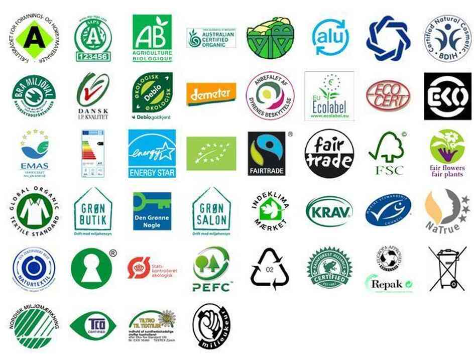 Just some of the food labels a Danish government group is evaluating.