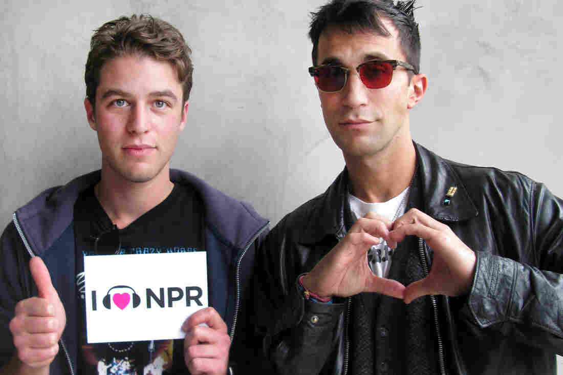 Henry Joost with Ariel Schulman (l to r) at NPR West.