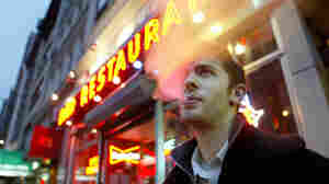 David Ozanich smoked outside the Live Bait bar in New York City in April 2003, a few months after a ban on smoking in bars and restaurants took effect.