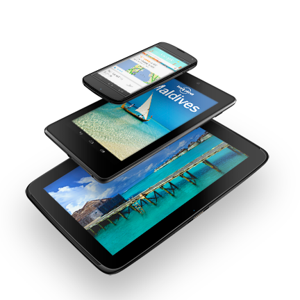 The Nexus 4, Nexus 7 and Nexus 10.