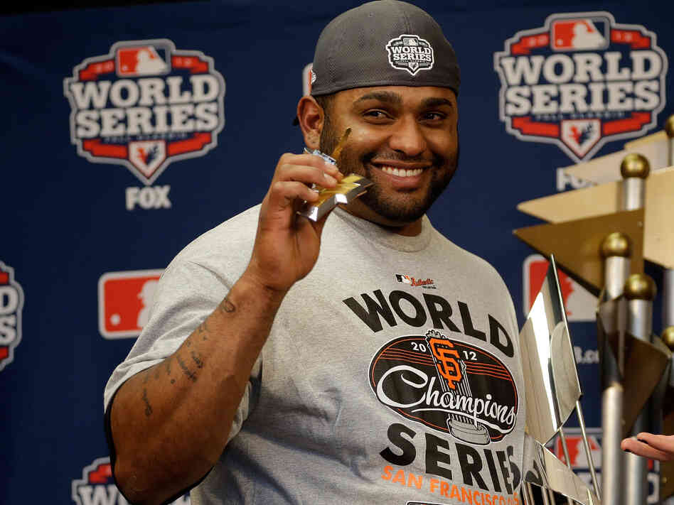 San Francisco Giants third baseman Pablo Sandoval was the World Series' most valuable player. He hit three home runs in Game 1.