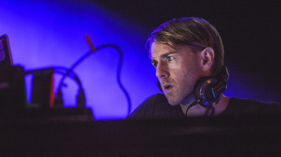 Richie Hawtin performs at Moogfest in Asheville, N.C. on Friday, October 26. Hawtin's  CNTRL: Beyond EDM tour with Loco Dice is scheduled to launch this week. (Adam Kissick for NPR)