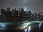 Lower Manhattan goes dark during Sandy, on Monday, as seen from Brooklyn. New York City's power company Consolidated Edison Inc., has shut down power to a large part of Lower Manhattan.