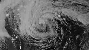 Hurricane Sandy, seen from a NASA satellite