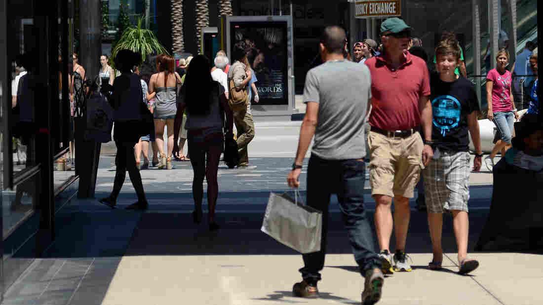 Hitting the mall: Spending rose in September.