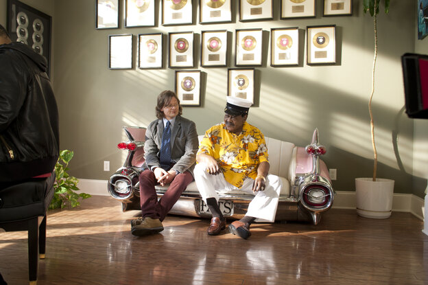 DJ Davis (Steve Zahn) gains an audience with Fats Domino and his many gold records.