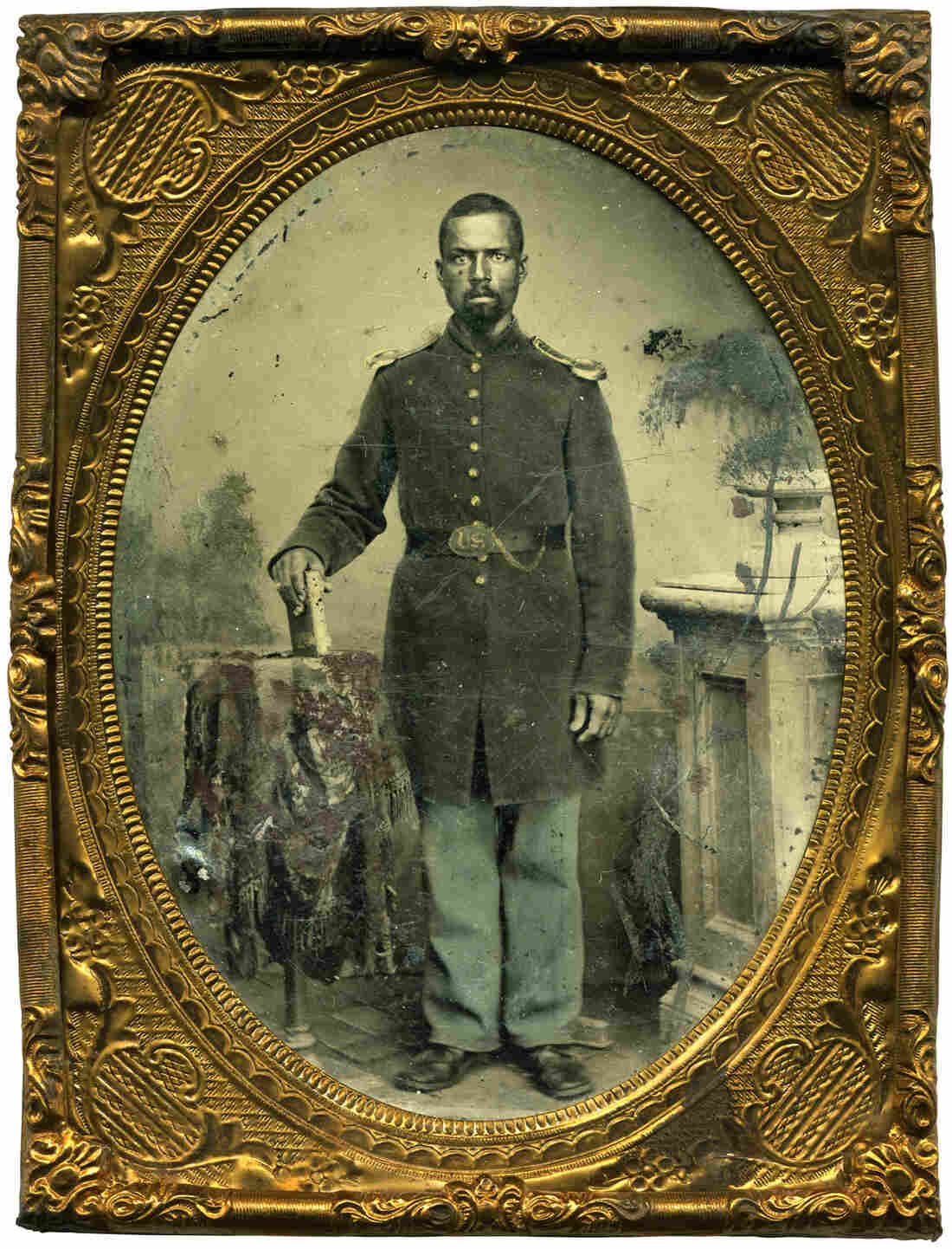 After an initially frustrating search for identifiable Civil War portraits, Coddington finally came across this image of William Wright of the 114th U.S. Colored Infantry. That find inspired his continued hunt for similar images.
