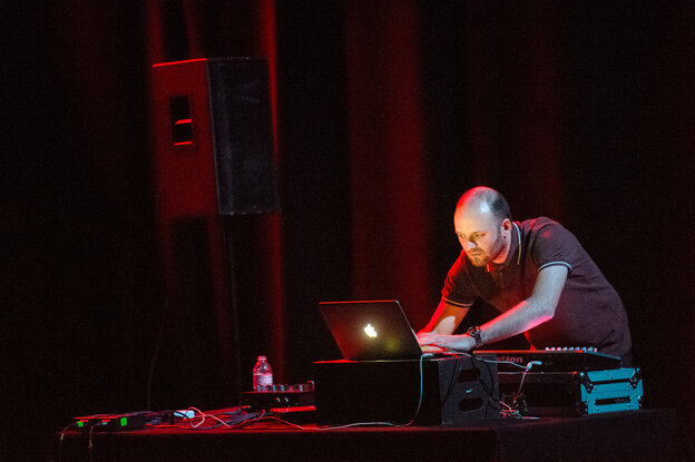 Andy Stott performs at Moogfest 2012.