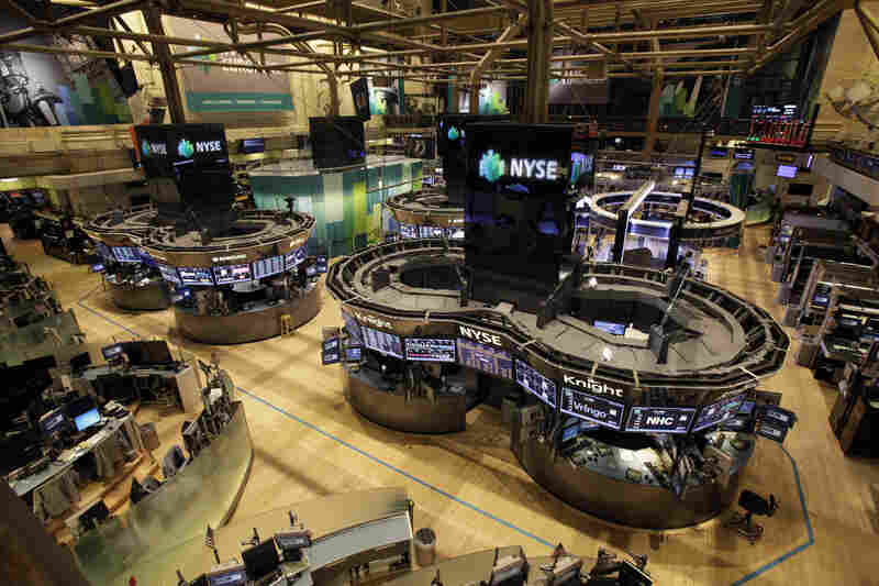 The floor of the New York Stock Exchange is empty of traders and remained closed Tuesday. The Stock Exchange said that no damage has occurred and that contingency plans are being tested only as a safety measure.