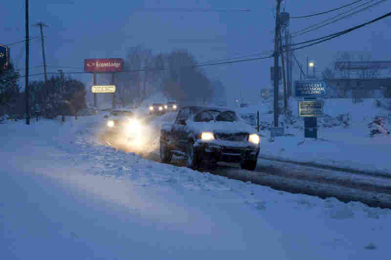 It snowed about a foot between Monday and Tuesday in Beckley, W. Va. The heavy moisture from Hurricane Sandy, combined with cold air from Canada, brought wet snow to the region.