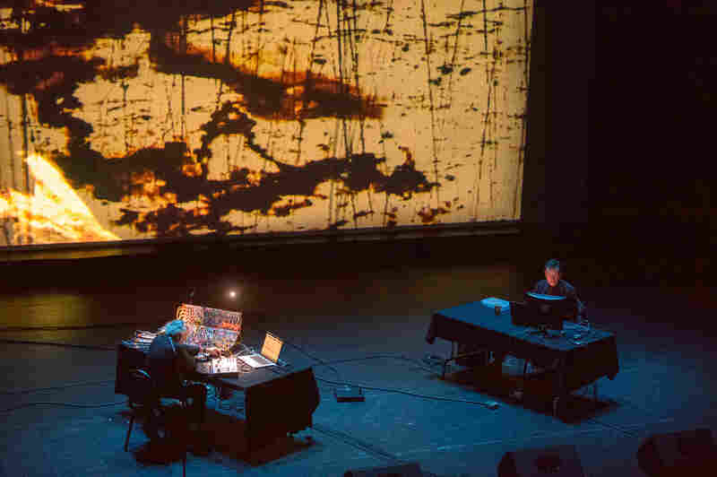 One of the highlights of this year's Moogfest was a performance by Morton Subotnick (left), a pioneer in electronic music. He performed his entire, now-legendary album Silver Apples of the Moon.