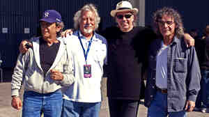 Crazy Horse doesn't just redeem Neil Young's mawkish moments — it transforms them. From left, Ralph Molina, Poncho Sampedro, Neil Young and Billy Talbot are Neil Young and Crazy Horse.