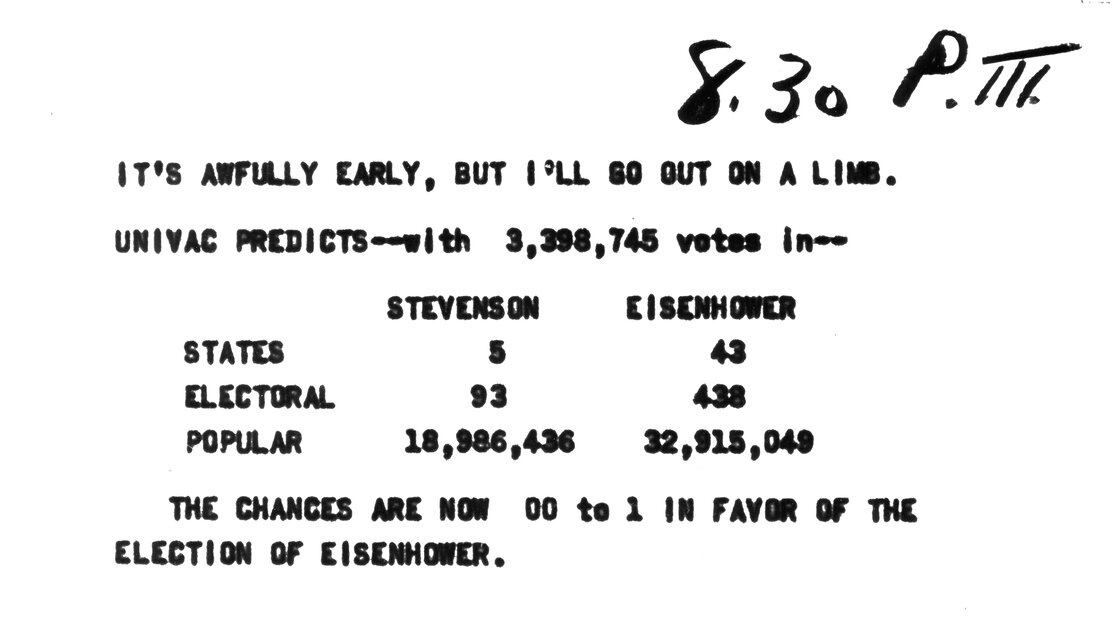 univac 1952 election