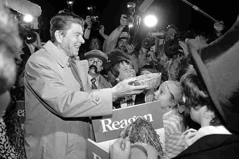 Ronald Reagan greets children in Michigan while campaigning for president in 1980. If Romney and President Obama want to be taken seriously as candidates, they better have candy is all I'm saying.