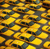 Taxis sit in a flooded lot in Hoboken, N.J., after Hurricane Sandy caused massive flooding across much of the Atlantic Seaboard.