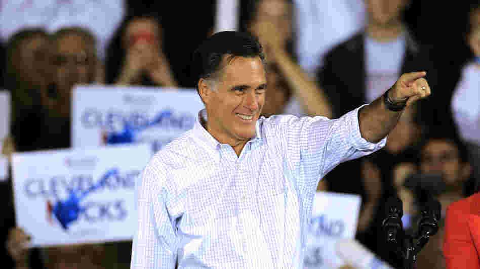 Mitt Romney campaigns Monday in Avon Lake, Ohio.