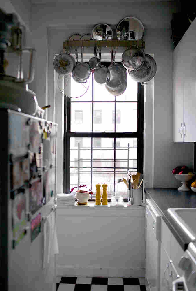 Deb Perelman's kitchen is 3 feet by 6 feet, and the only counter is a meager 2 feet by 3 feet, but she says the size of your kitchen shouldn't get in the way of what you cook.