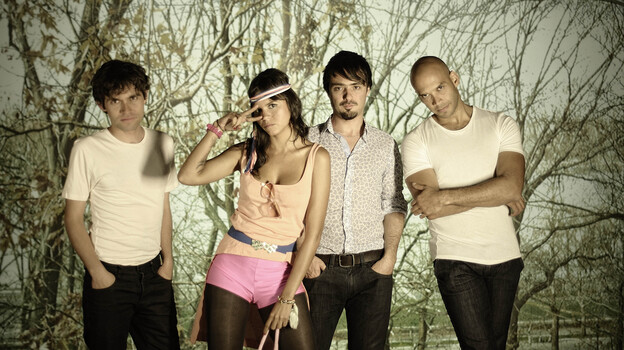 Li Saumet (second from left) is lead singer of the Colombian band Bomba Estereo. (Courtesy of the artist)