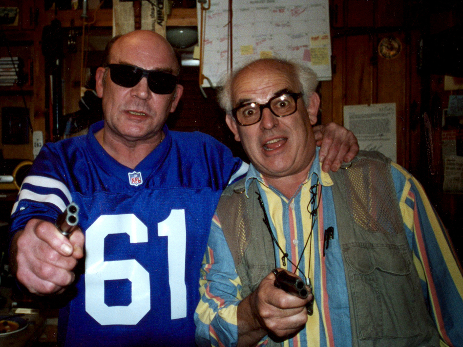 Hunter S. Thompson (left) and Ralph Steadman's first collaboration was on a story about the Kentucky Derby. (Courtesy of Itch Film)