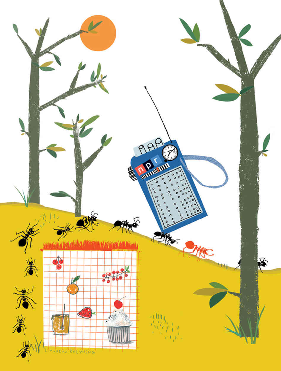 Lauren Rolwing's artwork for the 2013 NPR Wall Calendar.