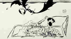 Among his many accomplishments, Ralph Steadman illustrated Hunter S. Thompson's 1971 novel, Fear and Loathing in Las Vegas, about a journalist's reporting trip turned hallucinogenic bender.