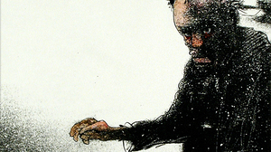 Ralph Steadman displays his signature style in this 1970 drawing of a New York homeless man.