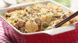 Classic tuna noodle casserole is an often maligned yet much beloved hot dish.