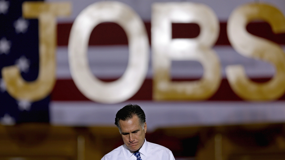Former Massachusetts Gov. Mitt Romney campaigns Friday in Etna, Ohio. (AP)
