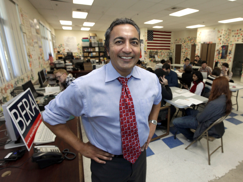 Democrat Ami Bera is challenging Lungren. Bera ran against Lungren in 2004 and lost, but since the district was redrawn, the race has become competitive.
