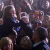 President Obama gives a girl a high five at a campaign rally in Hilliard, Ohio, on Nov. 2.