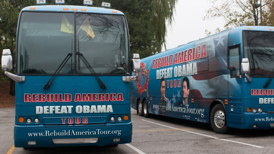 The Campaign to Defeat Barack Obama, a small-donor PAC, has launched a bus tour to reach conservative voters in hotly contested states, while trying to raise money to launch an anti-Obama TV ad. (Courtesy of Mlive.com)