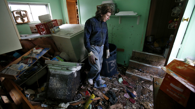 Steve Santo stands in the kitchen of his house on the south side of the New York City borough of Staten Island on Friday.  (Reuters/Landov)