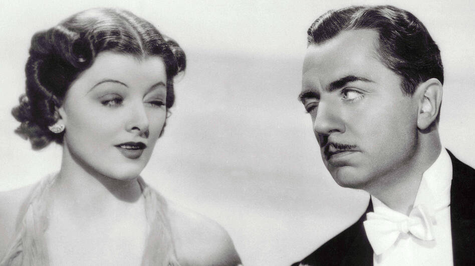 Myrna Loy and William Powell (and a wire-haired terrier) starred as Nick and Nora Charles (and Asta) in the 1934 film adaptation of Dashiell Hammett's The Thin Man. (The Kobal Collection)