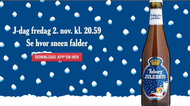 J-Day, the first Friday in November, marks the release of Denmark's Christmas beer, Tuborg's Julebryg. It's practically a national holiday as the beer is promoted tonight in bars throughout the country. (Tuborg)