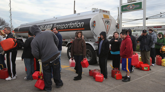 Parts of New York were also suffering fuel shortages, including Staten Island, where there were long lines for gas Friday. (Getty Images)
