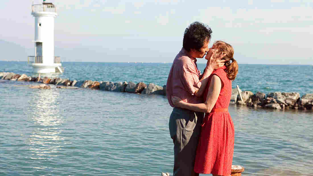 In Another Country is structured as three different stories around three women named Anne — all played by Isabelle Huppert. Moon Seong-keun plays Munsoo, a filmmaker with whom one of the Annes has an affair.