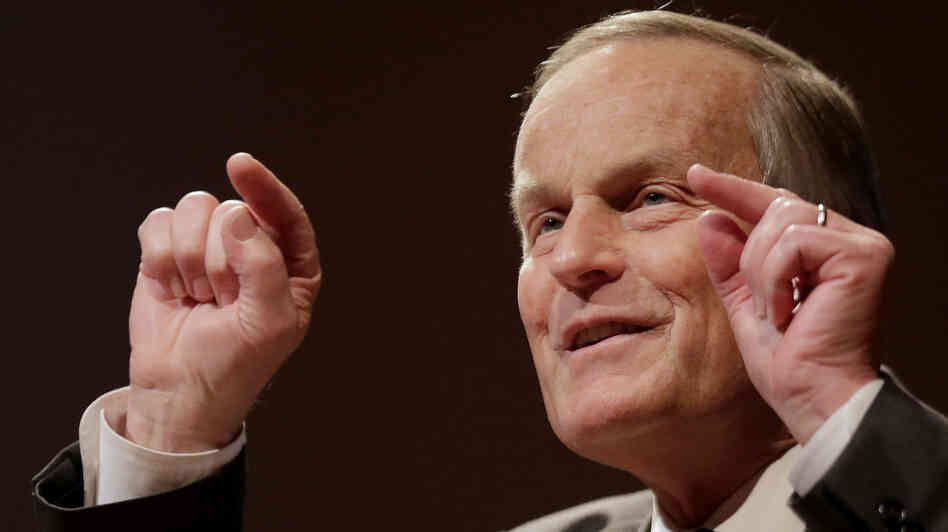 Missouri Republican Senate candidate Todd Akin addresses supporters during a campaign event Saturday in Kansas City, Mo.
