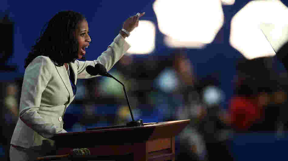 On Tuesday, Mia Love could become the first black Republican woman elected to Congress. Here, she speaks at the Republican National Convention in Tampa, Fla., on Aug. 28.