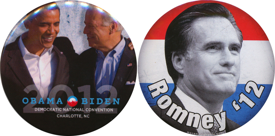 Obama Romney buttons