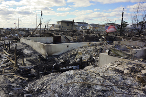 The six-square-block fire left nothing but foundations, chimneys and ash.