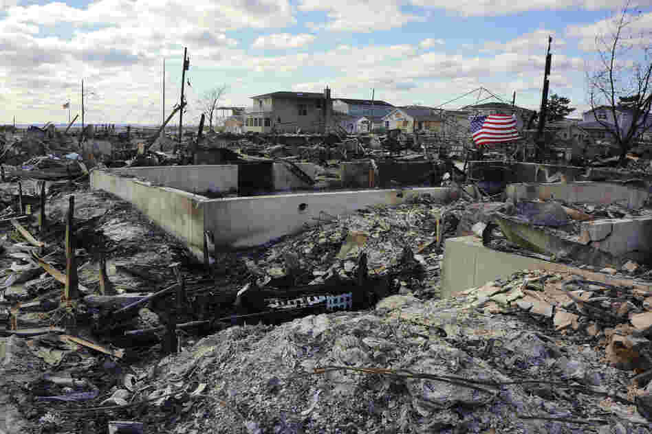 The 16-square block beachfront fire left nothing but foundations, chimneys and ash.