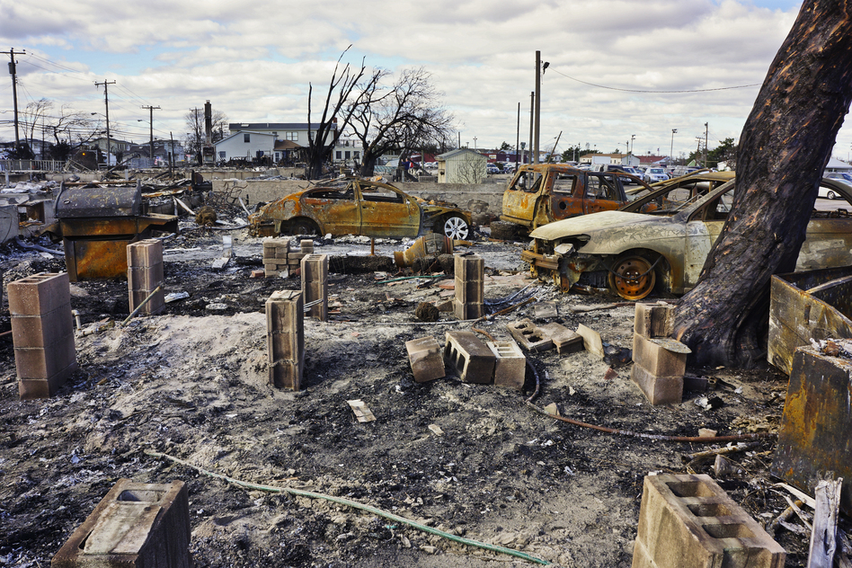 No deaths were reported in the Breezy Point fire. Everyone in the community has been evacuated. (NPR)