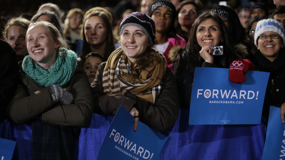 Supporters listen to President Barack Obama speak at a campaign event in Bristow, Va., on Saturday. (AP)