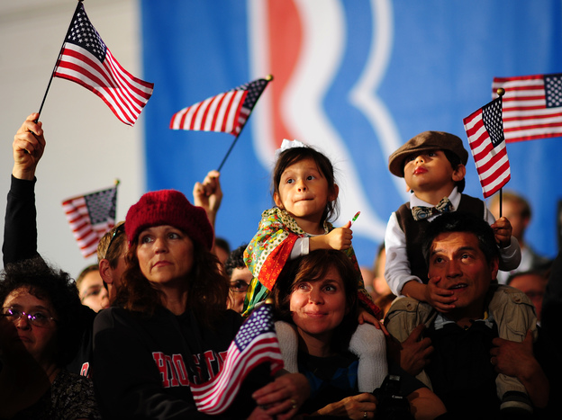 Supporters attend a Mitt Romney rally Monday in Columbus, Ohio.