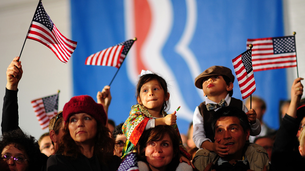 Supporters attend a Mitt Romney rally Monday in Columbus, Ohio. (AFP/Getty Images)