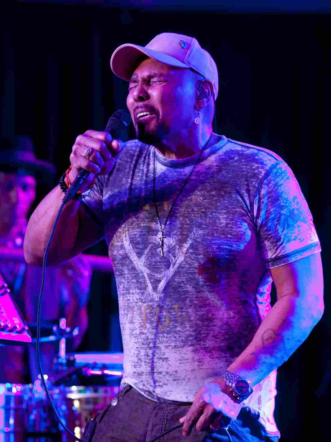Aaron Neville performs with The Neville Brothers in Treme.