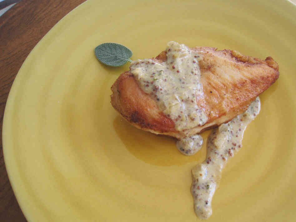 Chicken With Cider Pan Sauce