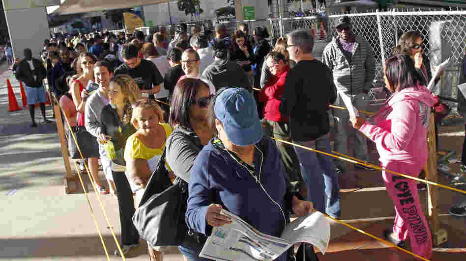 South Floridians stood in long lines Sunday during the last day of early voting in Miami.