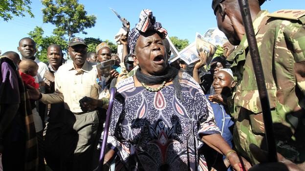 Sarah Hussein Obama, grandmother to President Obama, celebrates his re-election in his ancestral home village of Kogelo, Kenya. (Reuters /Landov)