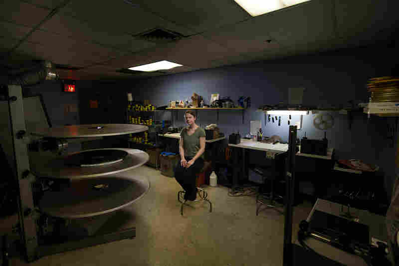 Projectionist Noel McCarthy at the Chelsea Clearview theater in New York.